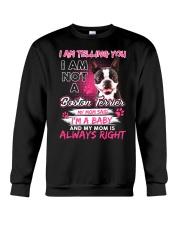 Boston Terrier Baby  Crewneck Sweatshirt front