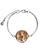 Jack Russell Terrier Awesome 2104 Metallic Circle Bracelet tile