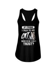 I Talk To My Cat 2504 Ladies Flowy Tank thumbnail