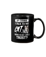 I Talk To My Cat 2504 Mug thumbnail