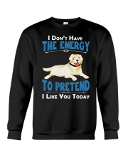 Golden Retriever Energy Crewneck Sweatshirt thumbnail