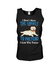 Golden Retriever Energy Unisex Tank thumbnail