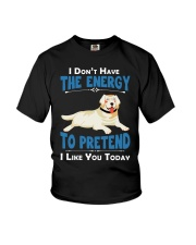 Golden Retriever Energy Youth T-Shirt thumbnail