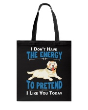Golden Retriever Energy Tote Bag thumbnail