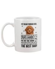 Poodle Dear Human Dad 0106 Mug back