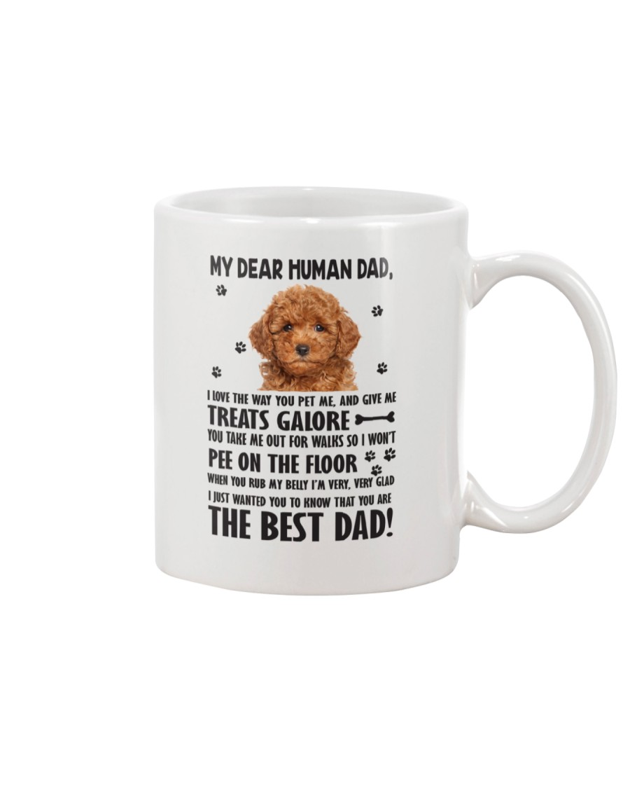 Poodle Dear Human Dad 0106 Mug