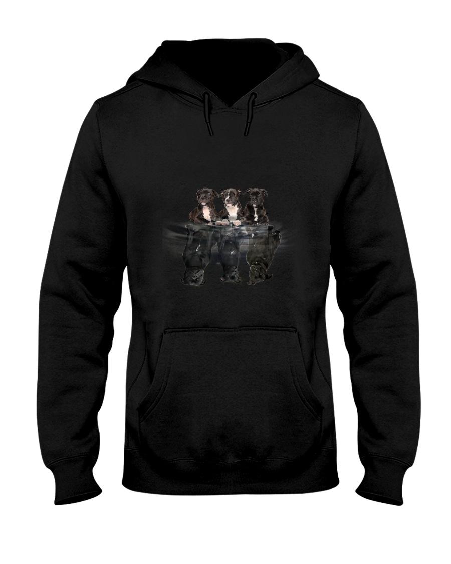 ZEUS - Staffordshire Bull Terrier Dreaming - 0210 Hooded Sweatshirt