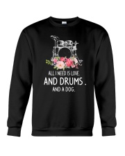 Drums And Dog 2304 Crewneck Sweatshirt thumbnail