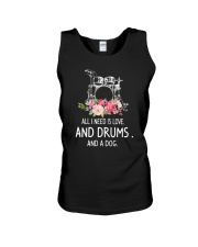 Drums And Dog 2304 Unisex Tank thumbnail
