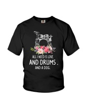 Drums And Dog 2304 Youth T-Shirt thumbnail