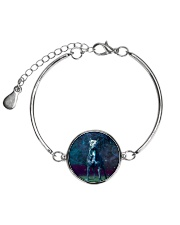 Pit Bull in the magic world Metallic Circle Bracelet thumbnail