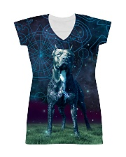 Pit Bull in the magic world All-over Dress thumbnail