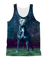 Pit Bull in the magic world All-over Unisex Tank front