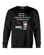 Cat Rose and Violet 1306 Crewneck Sweatshirt thumbnail