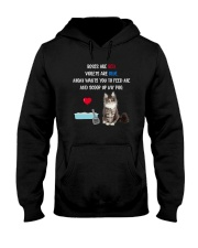 Cat Rose and Violet 1306 Hooded Sweatshirt thumbnail