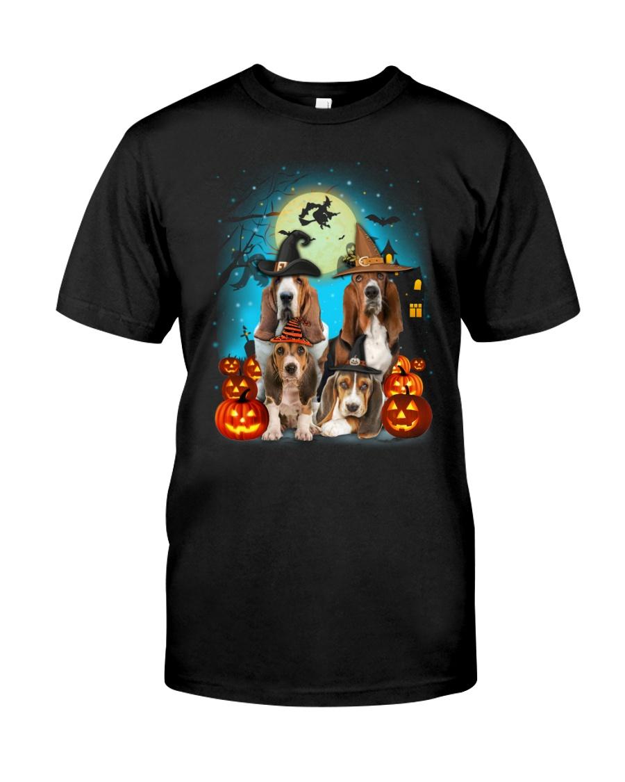 Gaea - Basset Hound Halloween - 1608 - 13 Classic T-Shirt