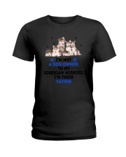Siberian Husky Father 0106 Ladies T-Shirt thumbnail