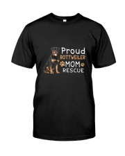 Rottweiler Mom Rescue 2505 Classic T-Shirt front