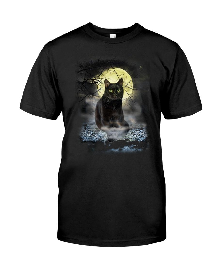 Black Cat Moon 2205 Classic T-Shirt