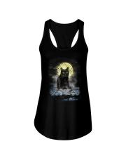 Black Cat Moon 2205 Ladies Flowy Tank thumbnail