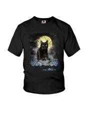 Black Cat Moon 2205 Youth T-Shirt thumbnail