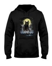 Black Cat Moon 2205 Hooded Sweatshirt thumbnail