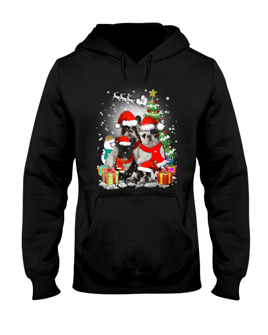 French Bulldog Christmas - 2809 - 74 Hooded Sweatshirt