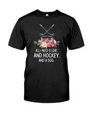 Hockey And Dog 2304 Classic T-Shirt thumbnail