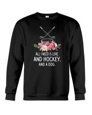 Hockey And Dog 2304 Crewneck Sweatshirt thumbnail
