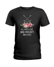Hockey And Dog 2304 Ladies T-Shirt thumbnail