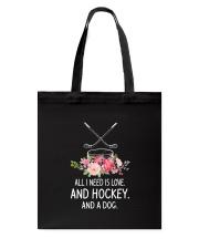 Hockey And Dog 2304 Tote Bag thumbnail