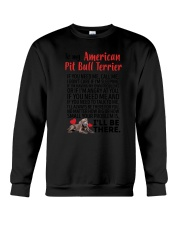 American Pit Bull Terrier Will Be There 0606 Crewneck Sweatshirt thumbnail