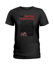 American Pit Bull Terrier Will Be There 0606 Ladies T-Shirt thumbnail