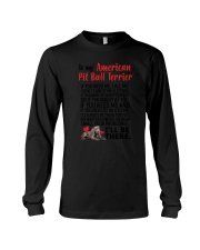 American Pit Bull Terrier Will Be There 0606 Long Sleeve Tee thumbnail
