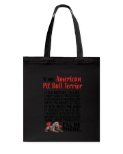 American Pit Bull Terrier Will Be There 0606 Tote Bag thumbnail