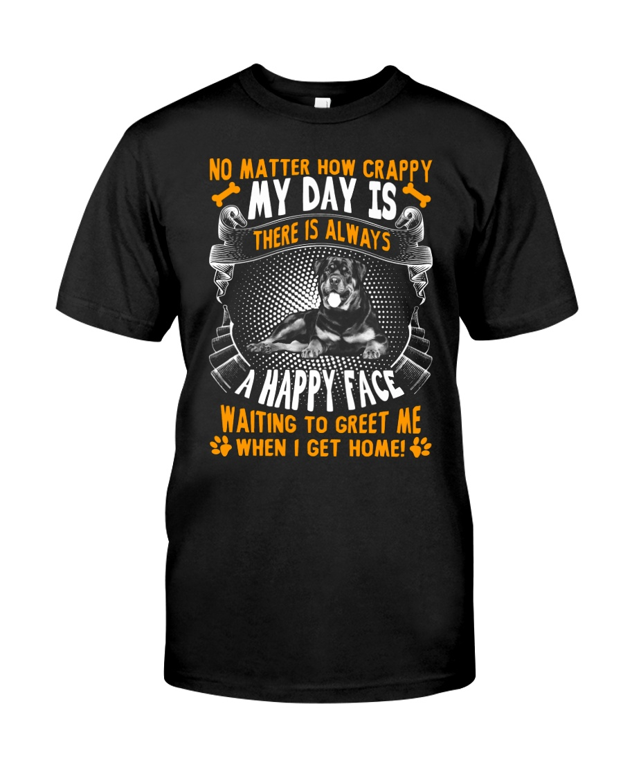 Rottweiler Happy Face Classic T-Shirt