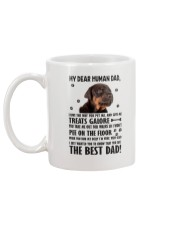 Doberman Pinscher Dear Human Dad 0106 Mug back