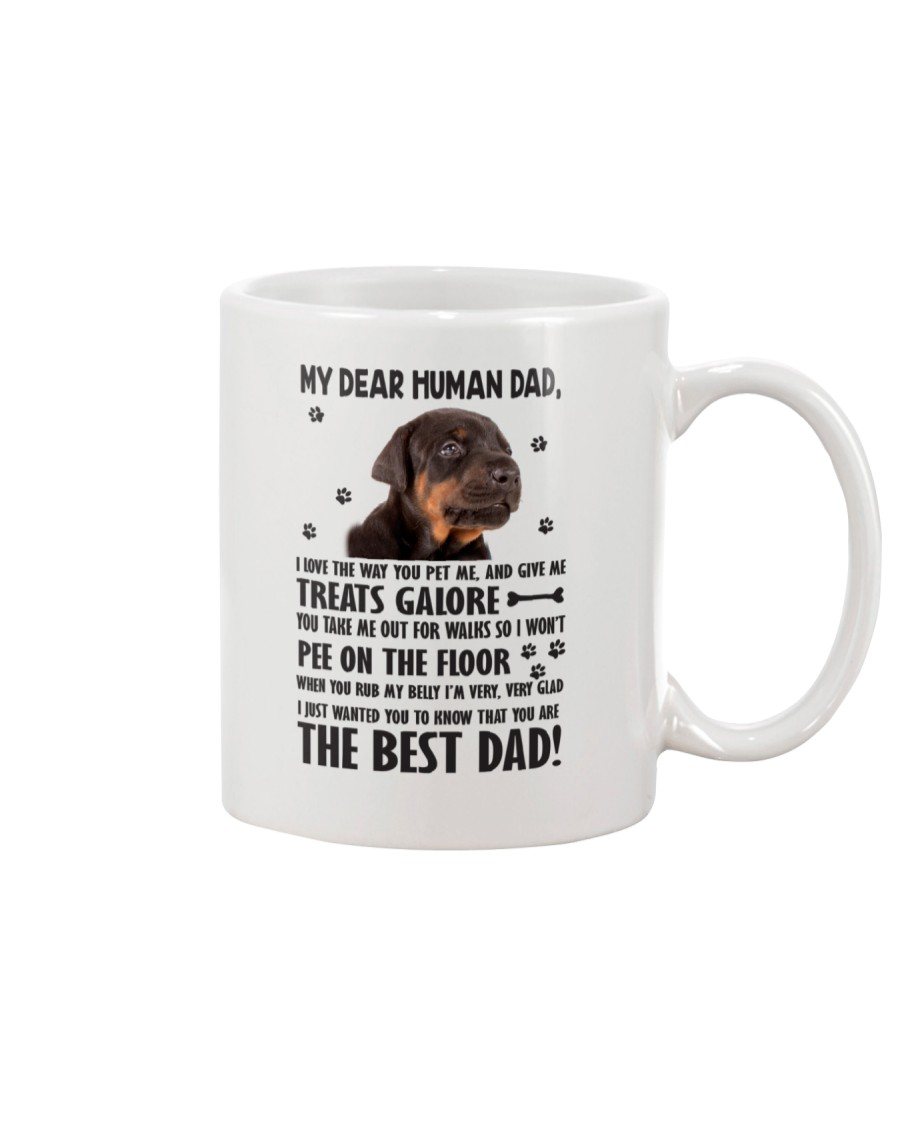 Doberman Pinscher Dear Human Dad 0106 Mug
