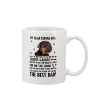 Doberman Pinscher Dear Human Dad 0106 Mug front