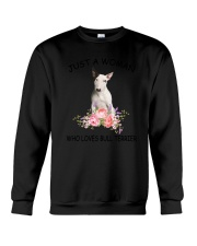 Bull Terrier Love Woman 2104 Crewneck Sweatshirt thumbnail