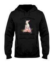 Bull Terrier Love Woman 2104 Hooded Sweatshirt thumbnail