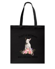 Bull Terrier Love Woman 2104 Tote Bag thumbnail