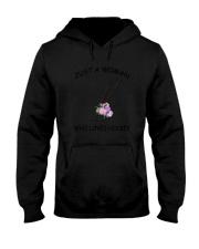 Hockey Love Woman 2104 Hooded Sweatshirt thumbnail