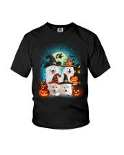 Gaea - Samoyed Halloween - 1608 - 50 Youth T-Shirt thumbnail