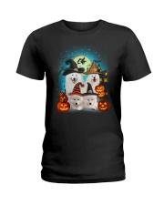 Gaea - Samoyed Halloween - 1608 - 50 Ladies T-Shirt thumbnail