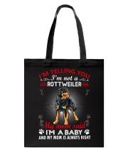 Rottweiler Telling Mom Tote Bag thumbnail