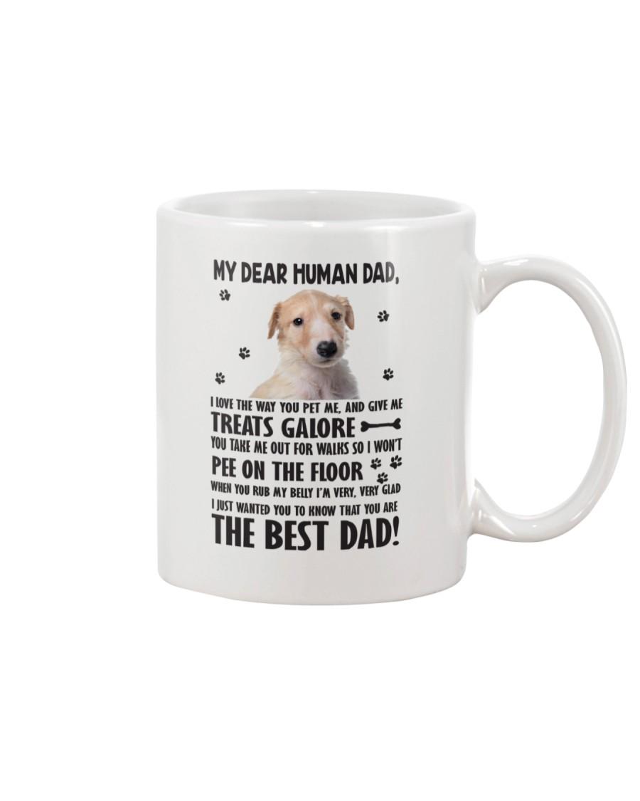 Borzoi Human Dad 0406 Mug