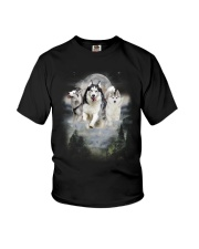 GAEA - Siberian Husky Moon 1604 Youth T-Shirt thumbnail