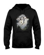 GAEA - Siberian Husky Moon 1604 Hooded Sweatshirt thumbnail