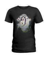 GAEA - Siberian Husky Moon 1604 Ladies T-Shirt thumbnail